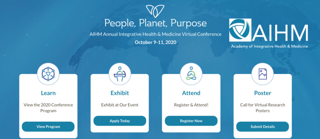 Academy of Integrative Health and Medicine Conference 2020 People Planet Purpose